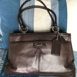 Coach Leather Carryall Handbag